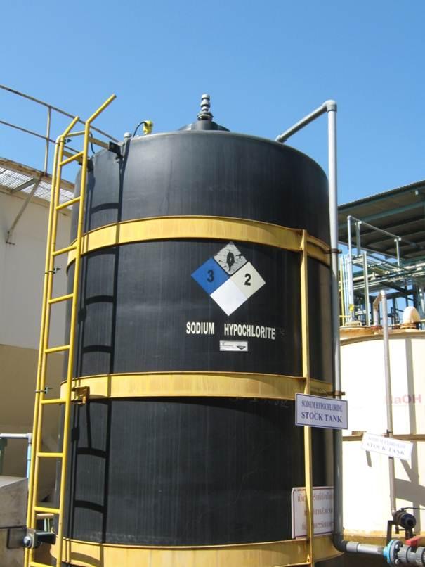 Storage Tank With Sodium Hypochlorite