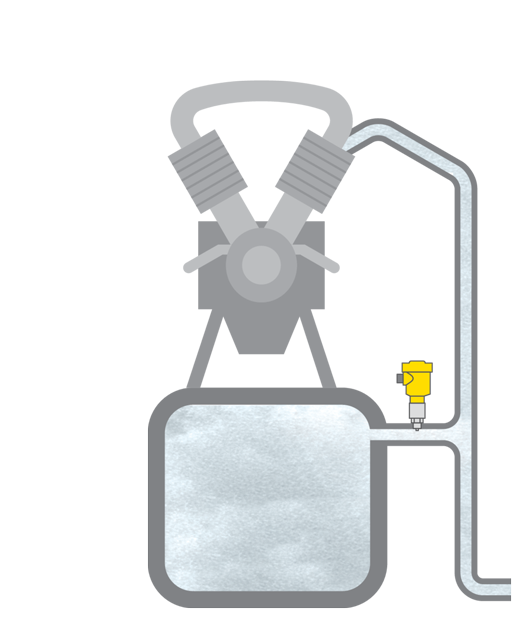 Pressure measurement in air compressor systems