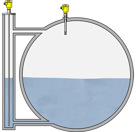 Level measurement and point level detection in the ammonia separator