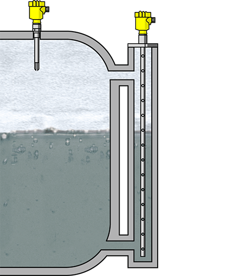 Level measurement and point level detection in the ammonia tank