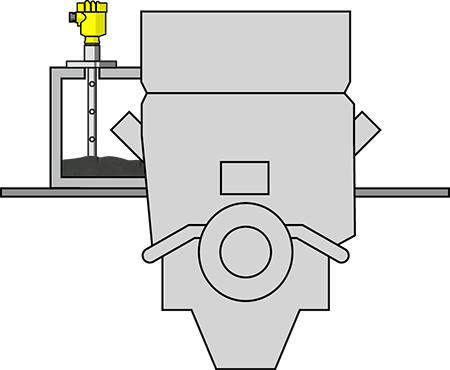 Level measurement in the turbine oil feed tank