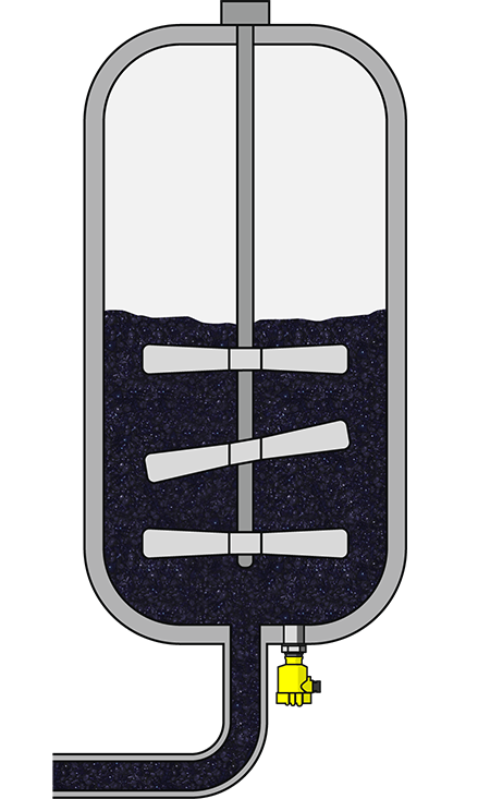 Level measurement in an elderberry mash tank