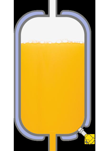 Level measurement in storage tanks for liquid foodstuffs