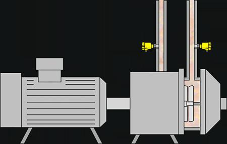 Pressure measurement on the refiner