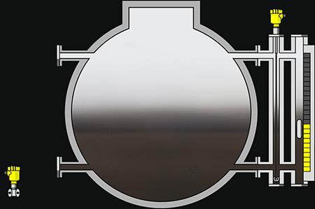 Level measurement in propane bullets