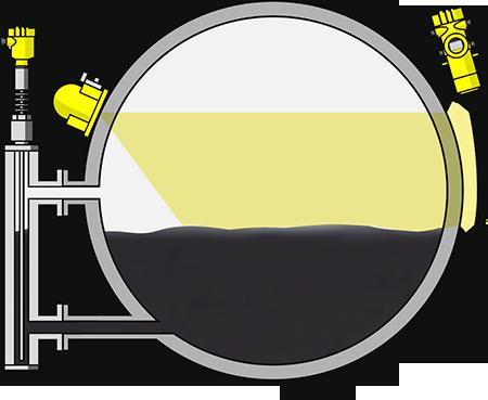 Level measurement in the reboiler