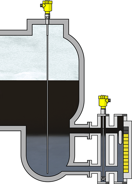 Interface measurement in the sour water stripper