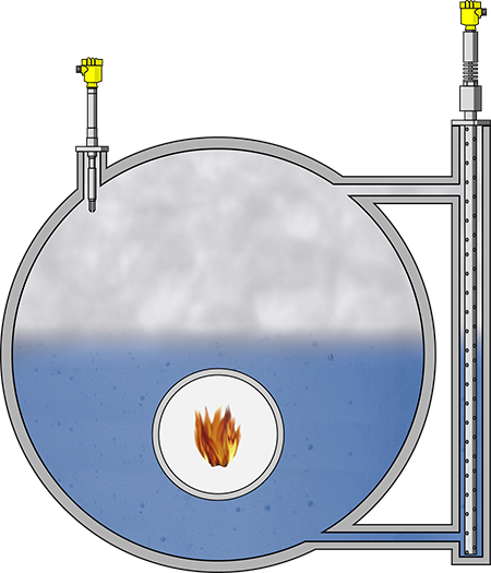 Level measurement and point level detection in process steam generation