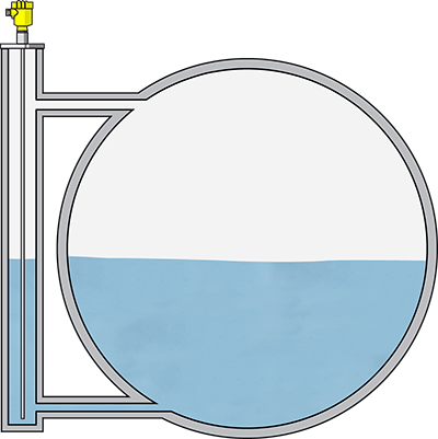 Heating condenser level measurement