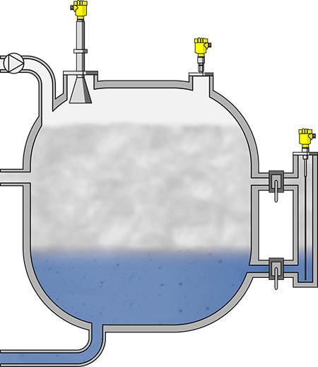 Level and pressure measurement in the gas separator