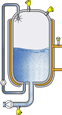 Level and pressure measurement in storage tanks for ultrapure water (Water for Injections)
