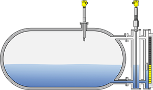 Level measurement and point level detection in condensate storage tanks