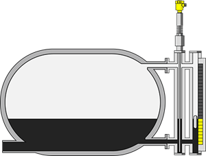Level measurement in the reflux accumulator drum