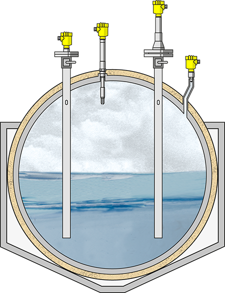Pressure, level and point level detection in Liquid Petroleum Gas (LPG) and Liquid Natural Gas (LNG) applications