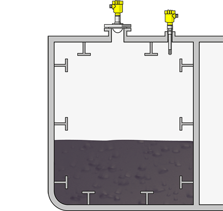 Level measurement and point level detection in FPSO crude oil tanks