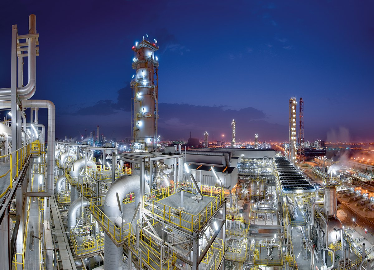 Ethylenanlage von Linde in Al Jubail in Saudi-Arabien.