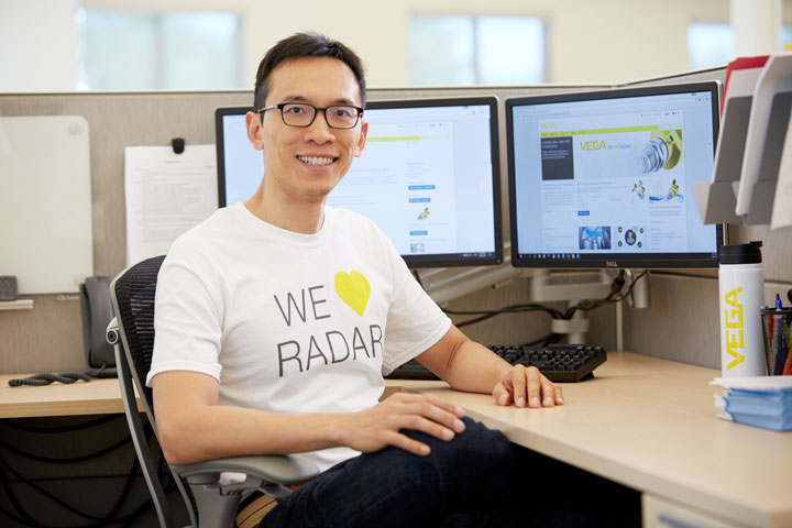 Alex Chang prepares is part of the VEGA Projects Team