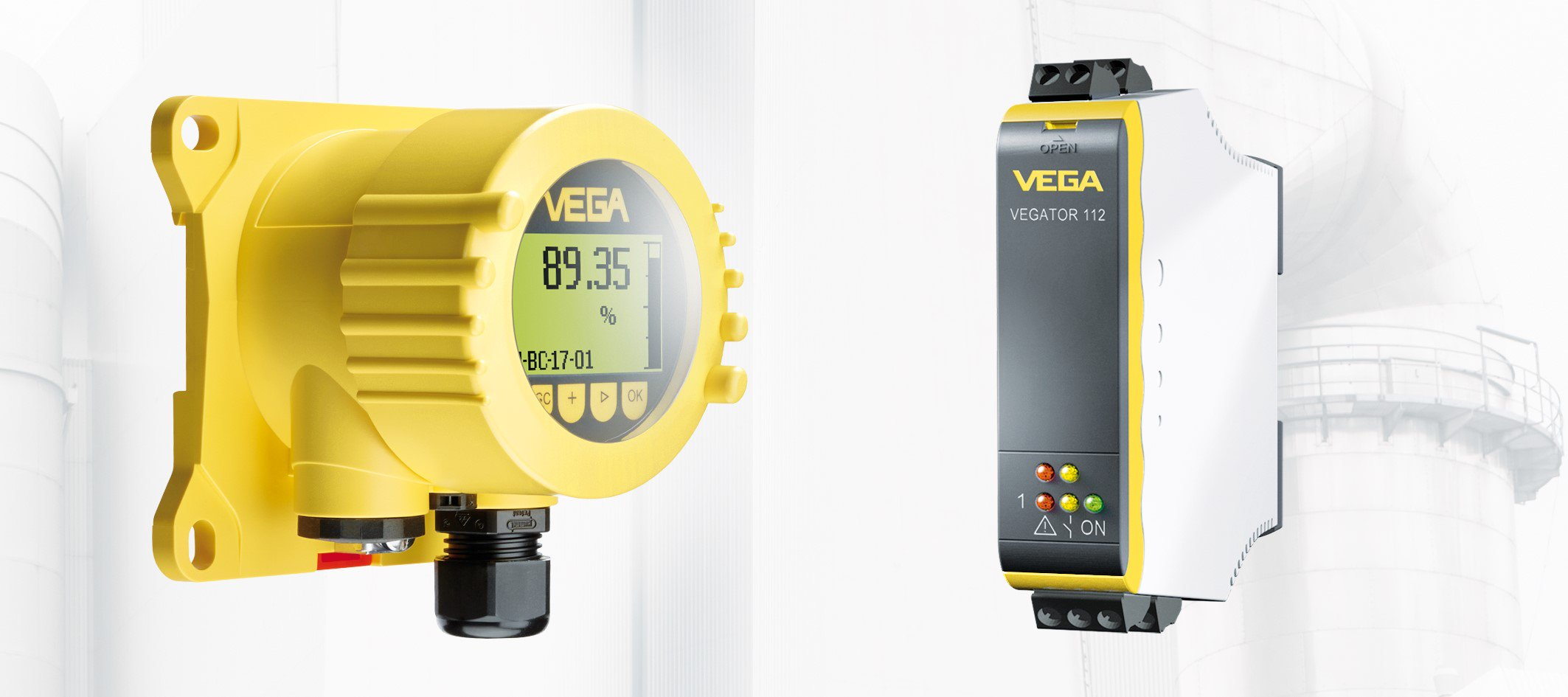 A VEGADIS and VEGATOR, VEGA signal conditioner and conditioner.