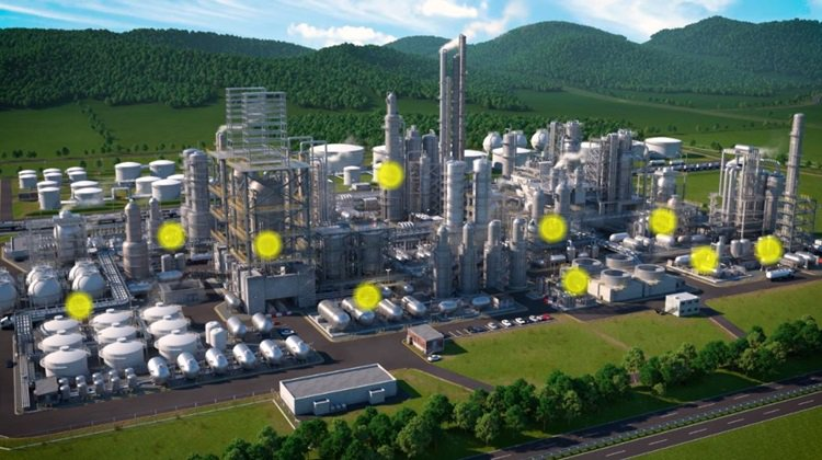 Petrochemical plant oil and gas