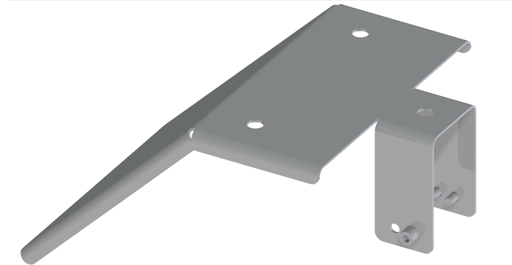 Mounting bracket with 45° reflector
