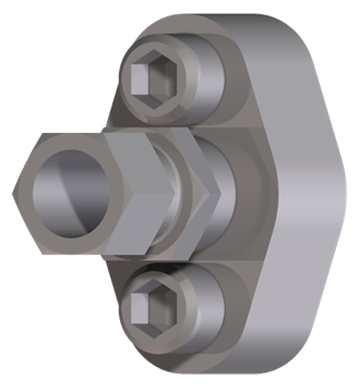 Oval flange adapter